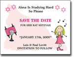 Pen At Hand Stick Figures - Save The Date Cards (Bat 3)