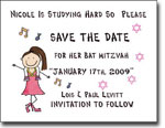 Pen At Hand Stick Figures - Save The Date Cards (Bat 4)