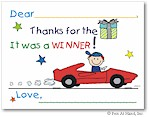 Pen At Hand Stick Figures - Fill-In Thank You Notes (Sportscar)