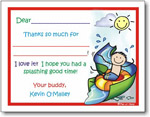 Pen At Hand Stick Figures Stationery - Waterpark Boy (Fill-In Thank You Notes)
