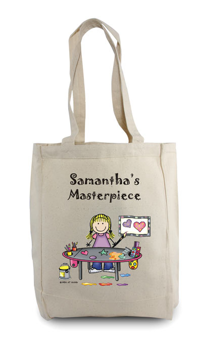 Pen At Hand Stick Figures - Tote Bag - Craft Girl