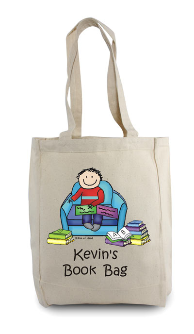 Pen At Hand Stick Figures - Tote Bag - Reader 2 Boy