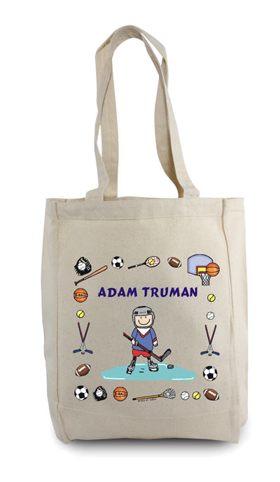 Pen At Hand Stick Figures - Tote Bag - Sports Border