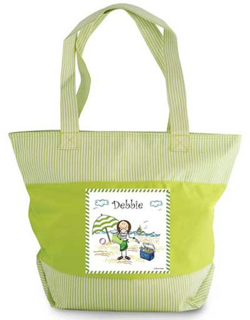 Pen At Hand Stick Figure - Zippered Tote Bag (Beach)