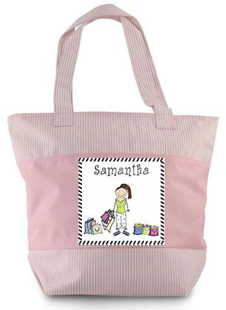 Pen At Hand Stick Figure - Zippered Tote Bag (Shopper)