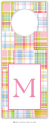 Boatman Geller - Personalized Wine Bottle Tags (Madras Patch Pink)