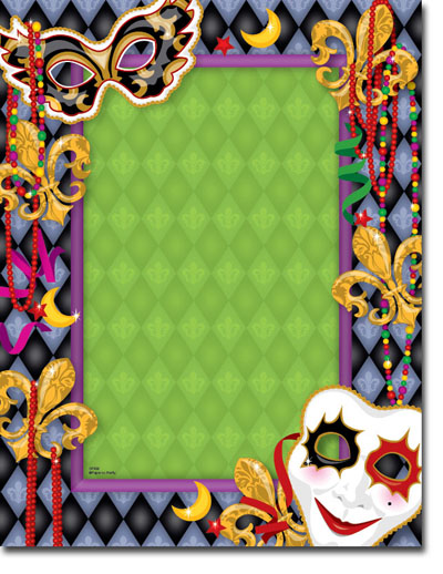 Paper So Pretty - Blank Designer Papers (Magnificent Mardi Gras