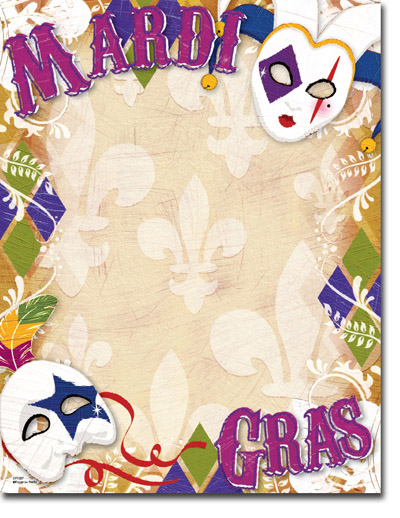Paper So Pretty - Blank Designer Papers (Mardi Gras Style ...