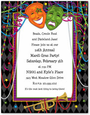 Paper So Pretty - Blank Designer Papers (Mardi Gras Mask)