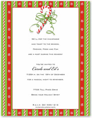Paper So Pretty - Blank Designer Papers (Candy Cane & Ribbon)
