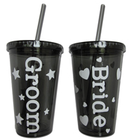 Acrylic Cups - Personalized (Bride-Groom)