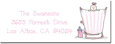 Blue Mug Designs Return Address Labels - Girl On The Beach