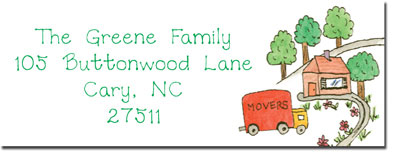 Blue Mug Designs Return Address Labels - Movin' to The Country