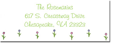 Blue Mug Designs Return Address Labels - Tiny Florals