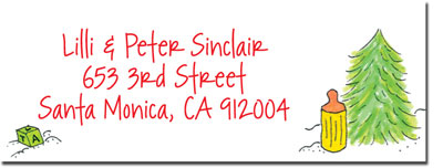 Blue Mug Designs Return Address Labels - Snow Family