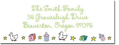 Blue Mug Designs Return Address Labels - Girl Cradle