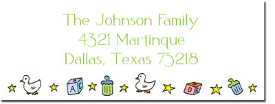 Blue Mug Designs Return Address Labels - Boy Cradle
