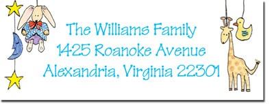Blue Mug Designs Return Address Labels - Boy Mobile