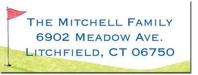 Blue Mug Designs Return Address Labels - Boy Golfer