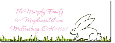 Blue Mug Designs Return Address Labels - Baby Bunny