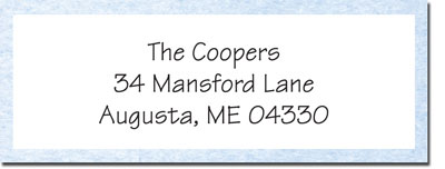 Blue Mug Designs Return Address Labels - Boy Stork
