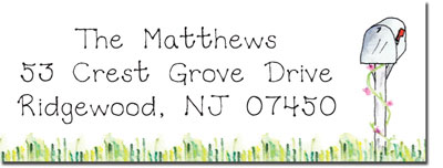 Blue Mug Designs Return Address Labels - Mailboxes