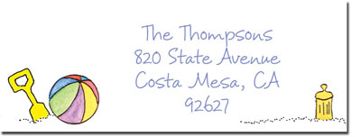 Blue Mug Designs Return Address Labels - Sister At The Beach