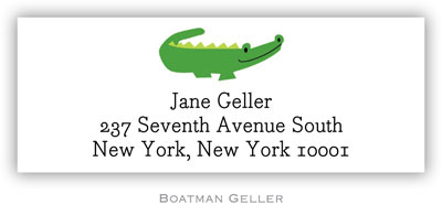 Boatman Geller Address Labels - Alligator