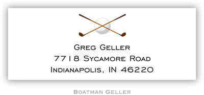 Boatman Geller Address Labels - Golf