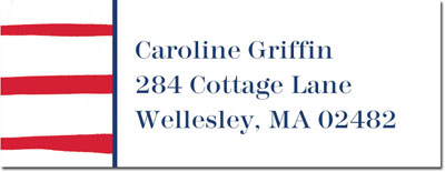 Boatman Geller - Create-Your-Own Address Labels (Brush Stripe)