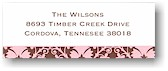 Boatman Geller Address Labels - Pink and Brown Damask