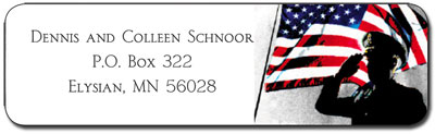 Carlson Craft Address Labels - Military Set
