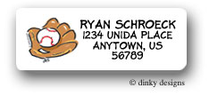 Dinky Designs Address Labels - Baseball & Mitt