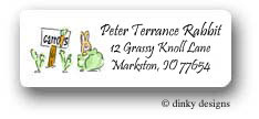 Dinky Designs Address Labels - Gardening Rabbit & Pals