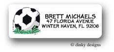 Dinky Designs Address Labels - Soccer Ball