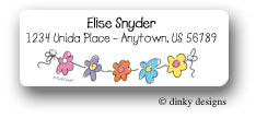 Dinky Designs Address Labels - String Of Flowers