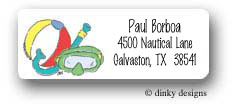 Dinky Designs Address Labels - Pool Party