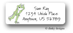 Dinky Designs Address Labels - Leaping Frog