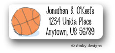 Dinky Designs Address Labels - Locker Room Basketball