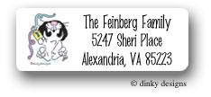 Dinky Designs Address Labels - Rabbit & Dreidel (Holiday)