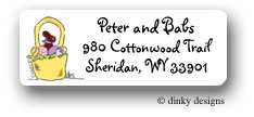 Dinky Designs Address Labels - Bow Tie Bunny