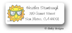 Dinky Designs Address Labels - Beamin' Summer Sun (Holiday)