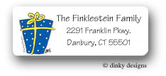 Dinky Designs Address Labels - Present Hanukah (Holiday)