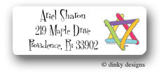 Dinky Designs Address Labels - Star Of David (Holiday)