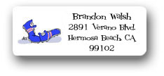 Dinky Designs Address Labels - Running Shoes
