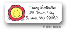 Dinky Designs Address Labels - Smiling Flower