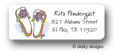 Dinky Designs Address Labels - Flippin' Flops