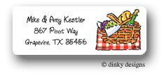 Dinky Designs Address Labels - Picnic At The Park