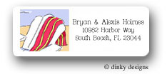 Dinky Designs Address Labels - To The Beach