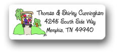 Dinky Designs Address Labels - Tee Time (Golf)